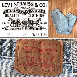 Levi's 505 Regular Fit 31x30 men's faded distress